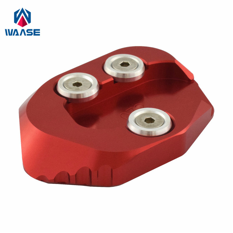 waase Motorcycle Kickstand Foot Side Stand Extension Pad Support Plate For Honda <font><b>CB1000R</b></font> <font><b>2018</b></font> 2019 2020 image
