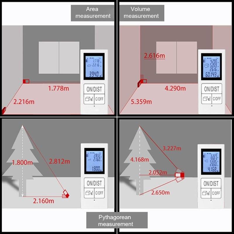 Mini Digital laser-distanzmessgerät Wiederaufladbare Messen 98 Ft/30 M Hause Verwenden Messung Werkzeug 0,03-30 m entfernungsmesser
