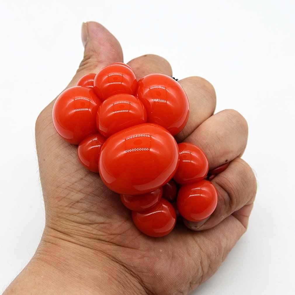 Novetly Divertente Palla Spremere Carino Alleviare Lo Stress Palla Polso della Mano Esercizio Anti-stress Melma Palla Uva Giocattolo Divertente Gadget giocattoli Regalo