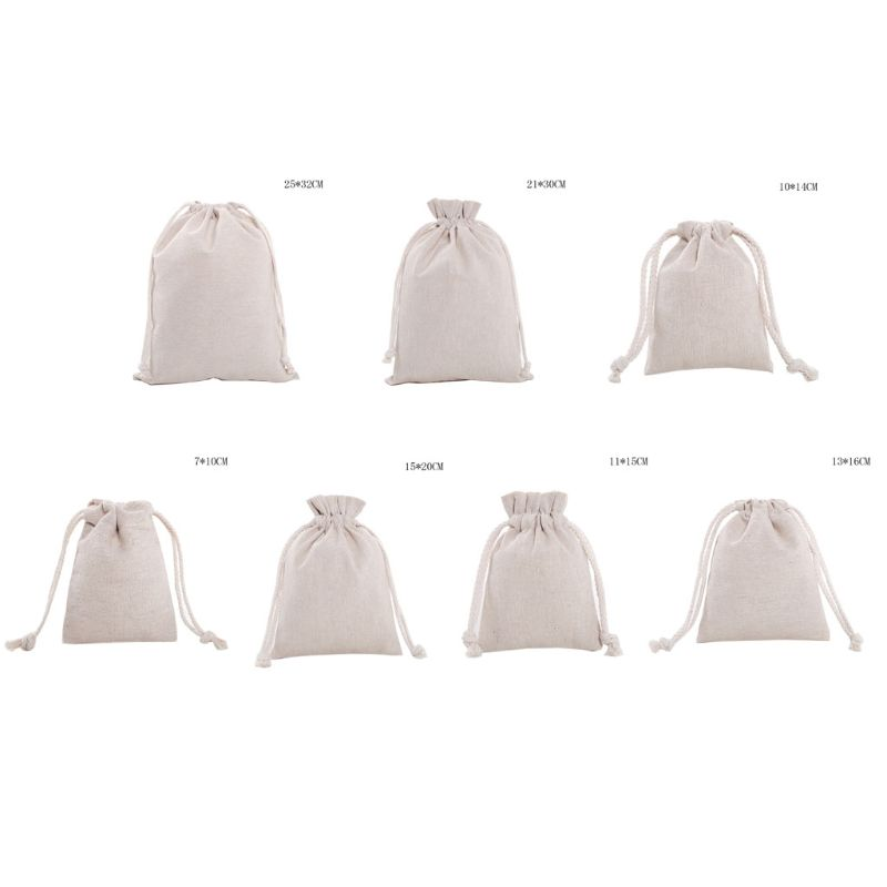 Travel Linen Drawstring Storage Bag Toy Shoes Laundry Organizer Packing Pouch 517D