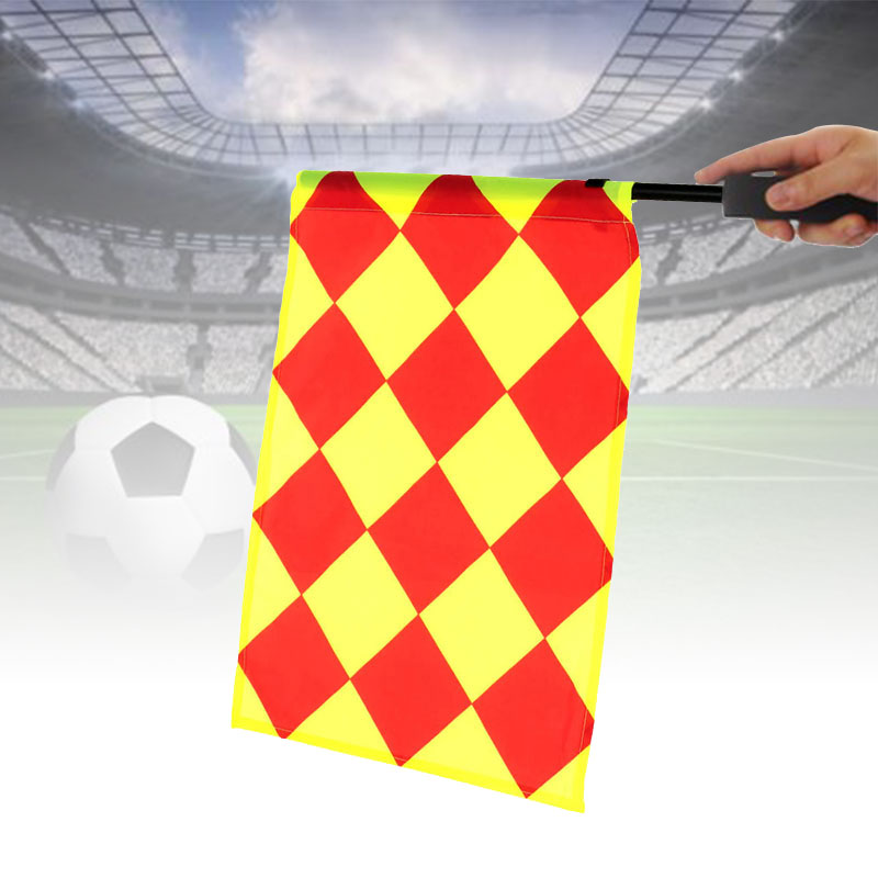 Soccer Referee Flag Play Equipment Sport Accessory Track Field Flag Competition Cloth Linesman Football Bunting Flag Match