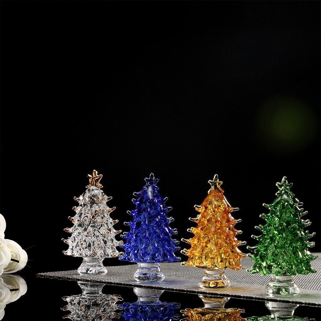 US $6 0 OFF 1pc Crystal Glass Christmas Tree decorations Festival Home Party Ornaments Xmas Decor Gift Lotus Buddhist arbol de navidad F104 Trees