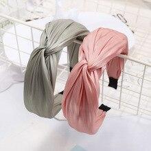 New Women Fashion Vintage Summer Autumn Silk Twist Cross Hea
