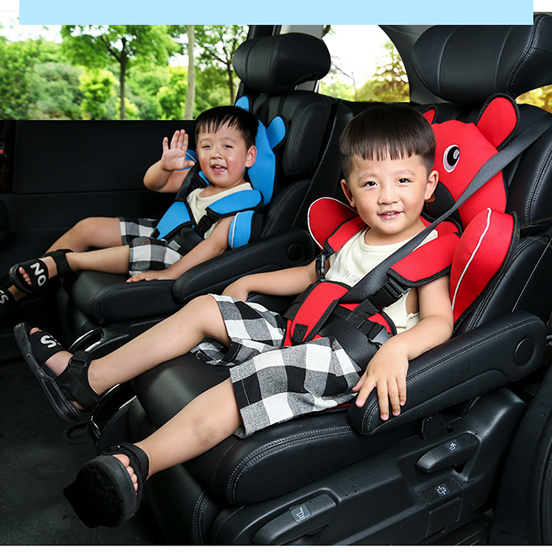 Travel Baby Safety Seat Cushion With Infant Safe Belt Fabric Mat Little Child Carrier Child Car Safety Seats 1-6T Dropshipping