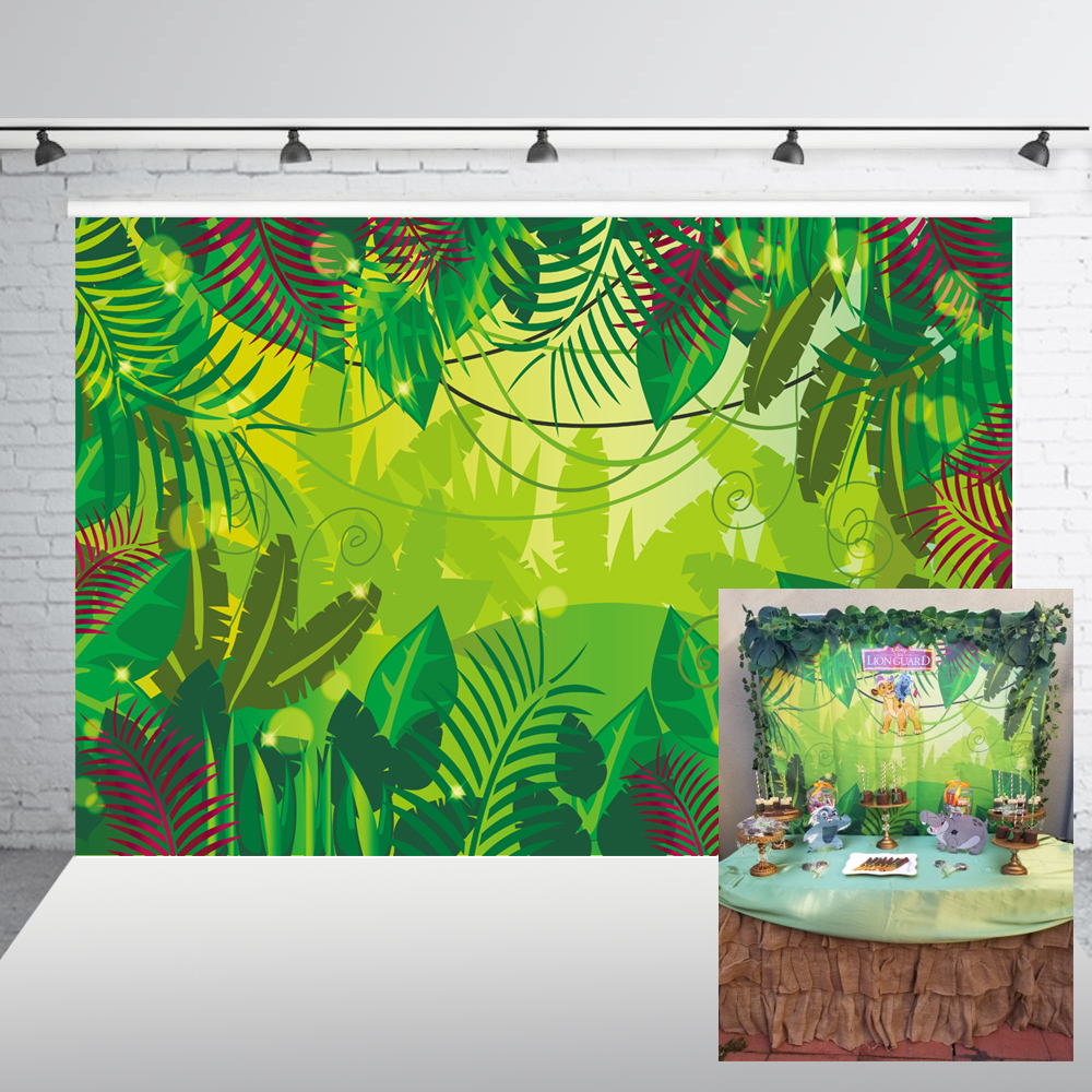 Jungle Safari Backdrop Photography Backdrops Happy Birthday Backdrop Background Banner Birthday Baby Shower Backdrop XT-6715