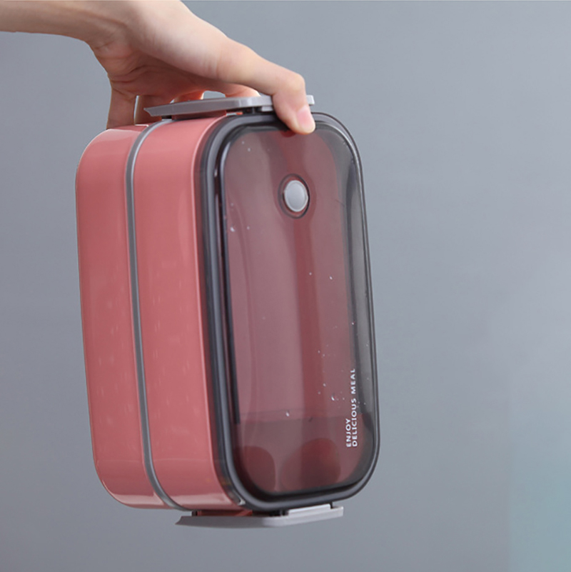 ONEUP 304 Stainless Steel Lunch Box Double layers With Cutlery Leakproof Compartment Food Container Kids Bento Box School in Lunch Boxes from Home Garden