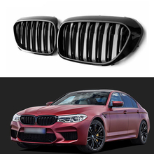 1 pair new design f90 m5 diamonds grille grill meteor style abs gloss black fits for bmw m5 look f90 front kidney grills 2019 in 1 Pair For BMW G30/G38 5 Series Front Grille Kidney Grill 2-Slat Gloss Black New 4-Door Sedan Car Styling Accessories 2017-2020