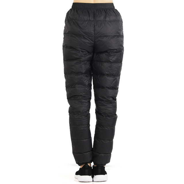TECTOP Winter Women Men's Soft Down Pants Windproof Outdoor Sports Camping Hiking Skiing Trekking Breathable Male Trousers VA677 Others Men's Fashion