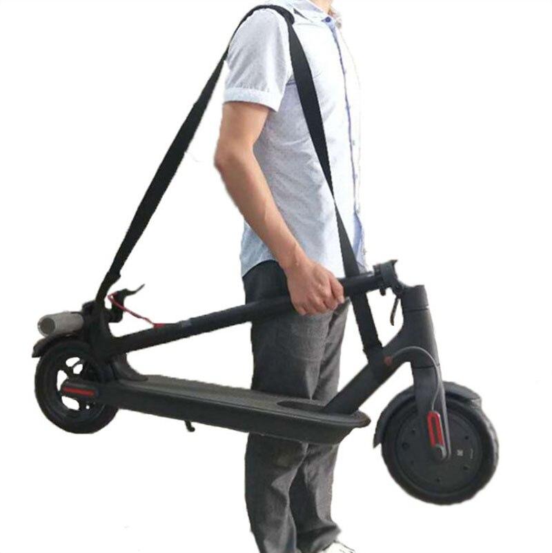 Spor ve Eğlence'ten Scooter Parçaları ve Aksesuarları'de Prorable Scooter el taşıma kolu bir omuz askıları kemer dokuma Xiaomi Mijia M365 Scooter kaykay aksesuarları title=