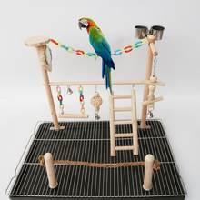 Попугая зеркало Играть Стенд кокатиел площадка древесины окунь