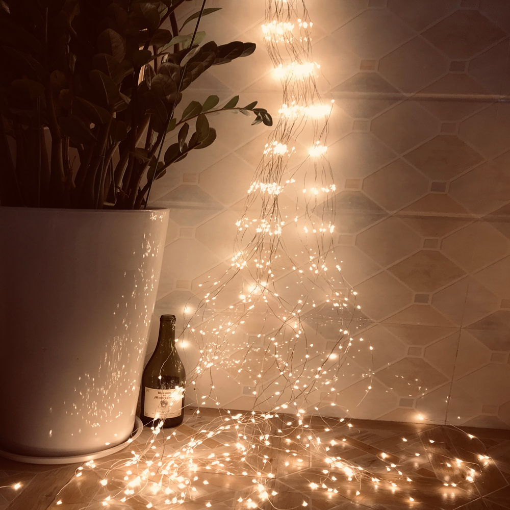 LED String Light Fairy Vines Lamp EU Plug Starry Garland Lighting For Bar Xmas Wedding Festival DIY Decoration