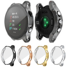 Ultra-fino claro tpu chapeamento protetor caso capa para garmin forerunner 945/935 inteligente horloge beschermende accessoires