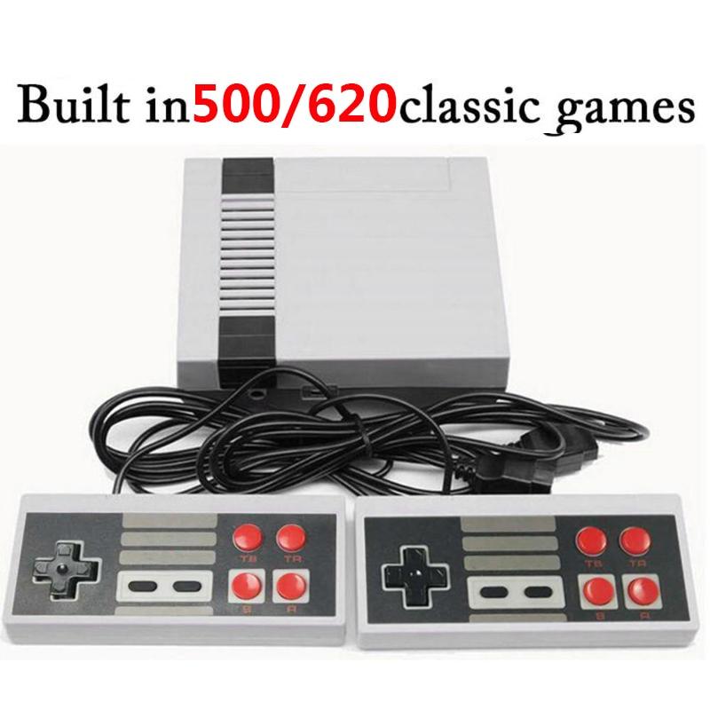 Alloyseed mini 8 bits built-in 500/620 jogos clássicos retro handheld jogador de jogo av porto tv game console crianças vídeo games console