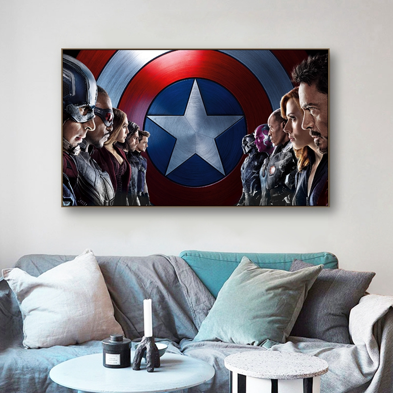 Captain America Civil War Movie Wall Art Canvas Painting Picture Superhero Film Poster Prints Home Room Decoration image