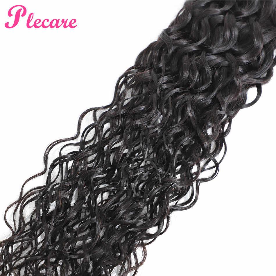Plecare su dalgası demetleri brezilyalı 100% insan saçı örgüsü demetleri 8-26 inç olmayan Remy doğal renk orta oranı saç ekleme