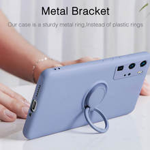 Ultra-thin Silicone Magnetic Holder Phone Case For Huawei P40 P30 P20 Mate 30 20 Pro Honor 20 30 Stand Finger Ring Bracket Cover