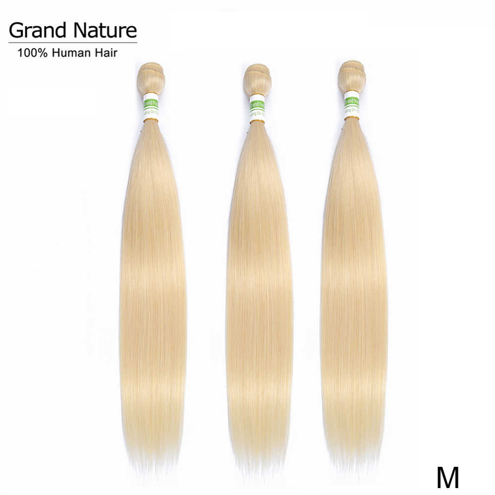 613 blonde Brazilian Hair Weave Bundles 100% straight human hair one bundle can buy 3or 4pcs 613 bundle Middle Ratio Remy