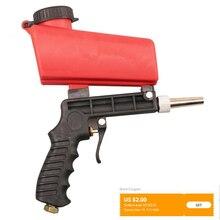 90psi Portatile Gravità Pneumatico Pistola Sabbiatrice Leggero In Alluminio Portatile Sabbiatura Pistola A Spruzzo Dispositivo di 700cfm Strumento di Potere