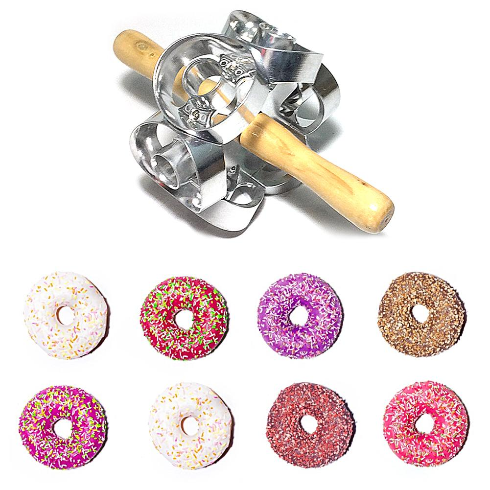 Mold Revolving Donut Cutter Maker Mold Pastry Dough Metal Baking Roller Kitchen Tools Wide Application Easy To Use Long Lasting image