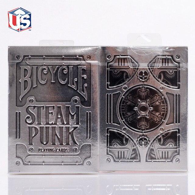 Хуэй qi покер серебро паровой панк игральные карты bicycle серебро издание серебро стимпанк T11