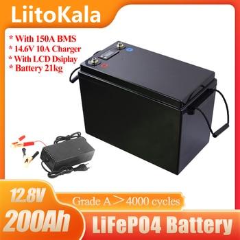 12,8 V 180Ah 200Ah 300Ah LiFePO4 baterías de energía de 3000 ciclos para 12V RV campistas carrito de Golf fuera de la carretera fuera de la red de viento Solar 14.6V10A 1