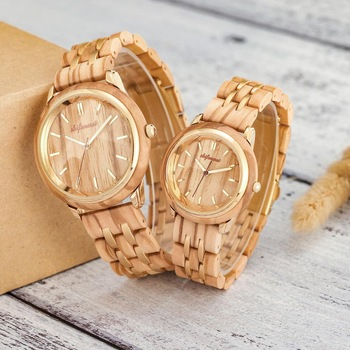 Couple Watches for Lovers Luxury Wood Watch Mens Fashion Wooden Women Dress Clocks Gifts for Valentine's Day Relogio de casal