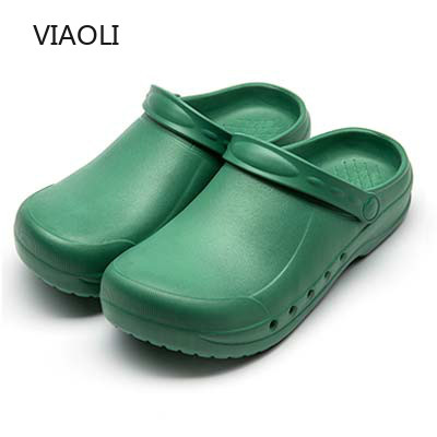 VIAOLI Medical Shoes Surgical Shoes Doctor Nurse Anti-slip Protective Footwear Operating Room Laboratory Slippers Working Clog