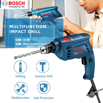 Bosch Electric drill Home use Power Tools GSB10/GSB10RE High Power Impact Drill Multi-Function Electrical Hand Drill machine wu307 drill good quality electrical drill for home decoration use at good price