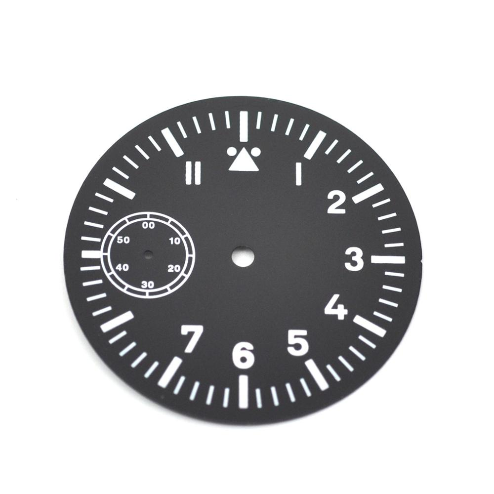 watch dial39mm black sterile dial luminous watch face fit for 6497-1/6497-2 6498 Sea-gull st3600 3620 movement hand winding