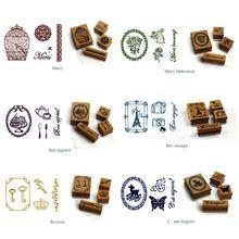 Vintage Handbook Planner Function Series decoration stamp wooden rubber stamps s F3ME