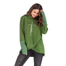 5XL Plus Size  Pregnant Hoodie Sweatshirts Women Print Letter Thicken Tops Winter Clothes for Maternity Clothing