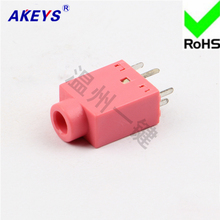 11 PCS PJ-358 pink headphone socket 5-pin socket anti-function 3.5MM  power socket цена