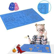 3D Printing Pen Drawing Board Basic Graphics Heat-resistant Silicone Copy Board No Paint Silicone Pads With 2 Finger Caps(China)