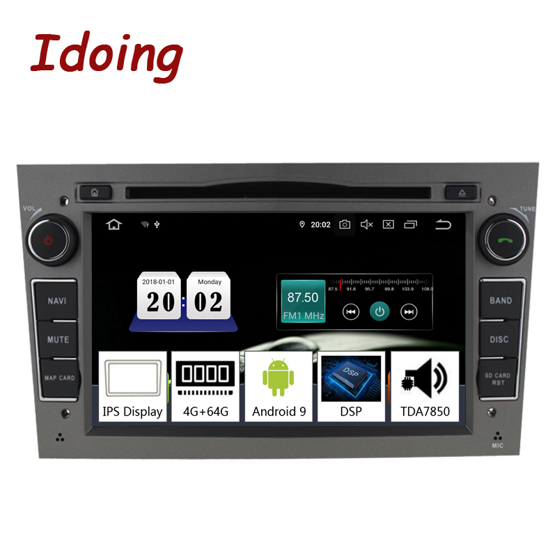 """Idoing 7""""2 din Andriod 9.0 Car Radio DVD Multimedia Player For Opel Vectra Corsa D Astra H PX5 4G+64G 8 Core IPS GPS NavigationCar Multimedia Player   -"""