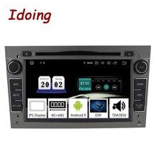 "Idoing 7 ""2 din android 9.0 araba radyo DVD multimedya oynatıcı Opel Vectra Corsa D Astra H PX5 4G + 64G 8 çekirdekli IPS GPS navigasyon"