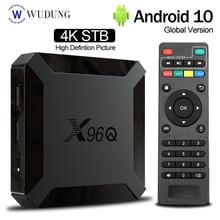 X96Q Android 10,0 Смарт ТВ коробка Allwinner H313 4 ядра, 2 Гб оперативной памяти, 16 Гб встроенной памяти, ТВ коробка Поддержка Wi-Fi 2,4 г Media Player PK X96Mini Декодер к...