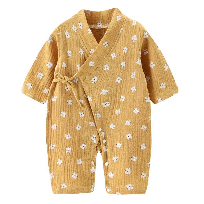 Детский комбинезон из муслина для новорожденных; Хлопковый комбинезон с длинными рукавами для девочек и мальчиков; Детская одежда; Сезон осень весна|Ромперы| | АлиЭкспресс
