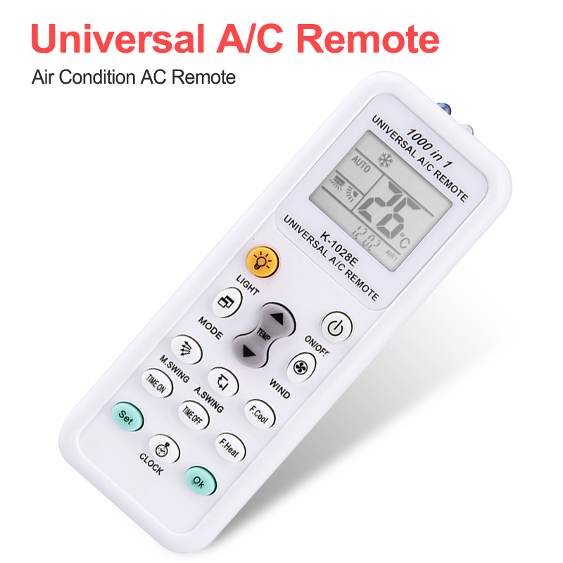 Big LCD Display Remote  For Air Condition Low Power K-1028E Air Condition Remote LCD A/C Remote Control Controller