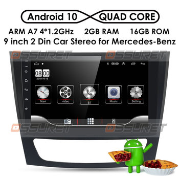 Android 10 2Din Car DVD Stereo Radio Player for Mercedes Benz E W211 E200 E220 E300 E350 E240 E270 E280 CLS CLASS W219 W209 W463 image