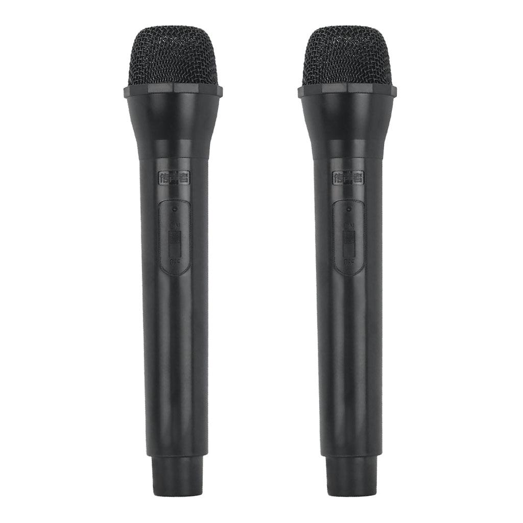 2 Pcs Fake Microphone, Accessories, Kids Karaoke Prop Mic Fancy Dress Black