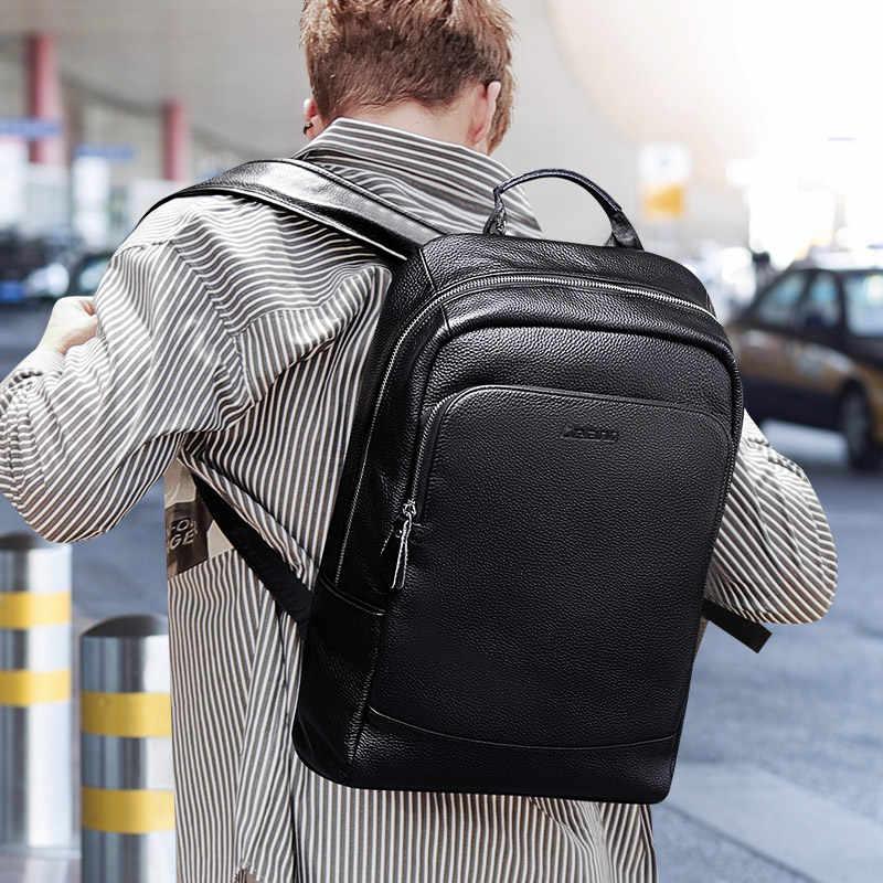 LIELANG Simples Mochila de Alta Qualidade Mochila de Couro dos homens Masculinos de Couro Tendência Da Moda Juventude Lazer Saco de Computador de Viagem