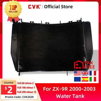 CVK Motorcycle Radiator Cooler Cooling Water Tank for Kawasaki ZX-9R 2000 2001 2002 2003 ZX9R 00 01 02 03 Aluminium ZX900 ZX900F motorcycle for kawasaki zx12r 2000 2001 2002 2003 2004 2005 zx 12r zx 12r motorcycle aluminum gear shift lever pedal