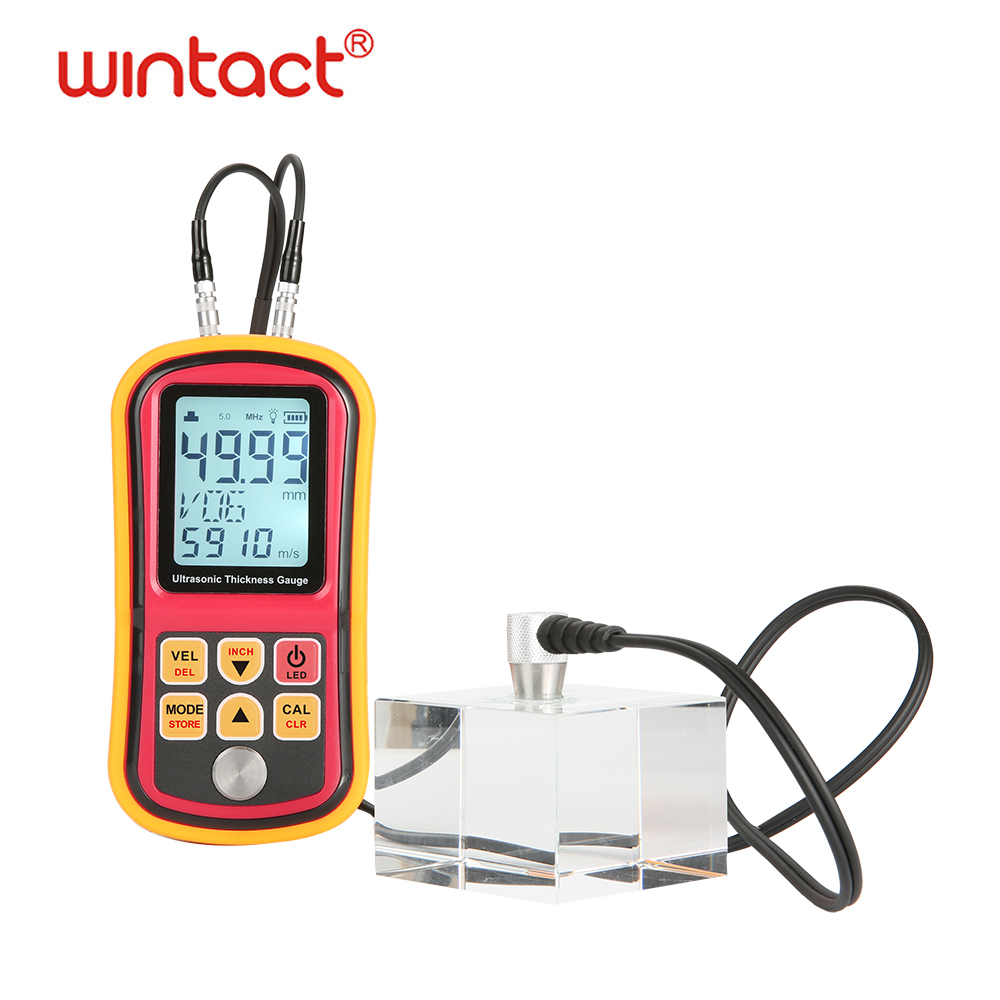 1 2 300mm ultrasonic coating thickness gauge metal thickness tester with 0 01mm resolution in Width Measuring Instruments from Tools