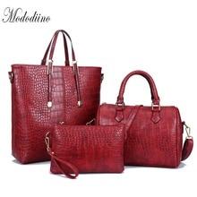 Mododiino Luxury Handbag Women Bag Designer Crocodile Leather Crossbody Bags For Shoulder Day Clutches DNV1192