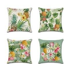 Coussin Decoratif Tropical Plant pineapple Throw Pillow Covers Pillowcases housse de coussin Decorative Sofa Car Cushion Cover стоимость