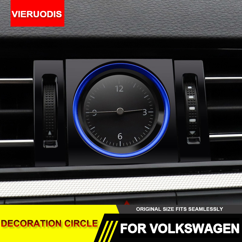 Car Dashboard Center Clock Decorative Ring Cover Trim Styling 2019 New Arrival Car Accessories For Volkswagen Passat B8