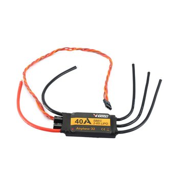 VGOOD Brushless ESC 60A/80A/100A /120A /150A 2-6S Lipo 32-Bit With 1.5A SBEC for Fixed Wing RC Drone Airplane Spare Part image