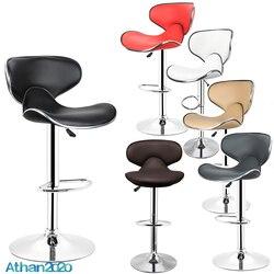 2 teile/satz Mode PU Leder Rückenlehne Barhocker Schmetterling Stil Eingestellt Drehbare Bar Stühle Gas Lift Küche Zubehör HWC