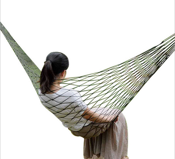High Quality Enjoy Portable Parachute Hammocks Swing Anti Mosquitoes Hammock Nylon Fabric Travel Camping For Double Two Person