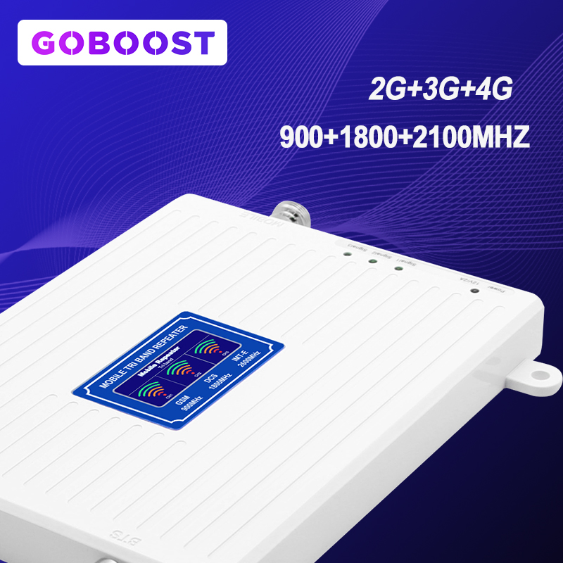 LTE 2G 3G 4G Mobile Phone Signal Booster TriBand 900 1800 2100 GSM Amplifier Internet Communication Cellular Signal Repeater *